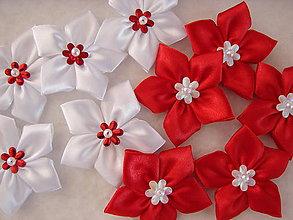 Galantéria - látkové kvetinky (Biela) - 8856550_