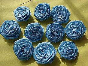 Galantéria - ružičky (Modrá) - 8856556_