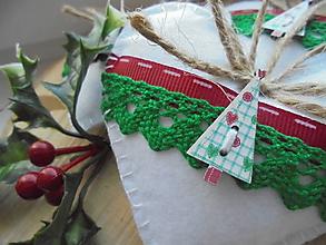 Dekorácie - Vianočné srdiečka - rozprávkové - 8861058_