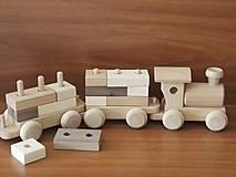 Hračky - Vláčik s kockami - 8857268_