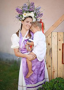 Šaty - Folkové šaty - orgovánový brokát - 8861511_