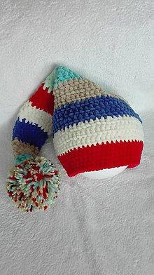 Detské čiapky - Pestrofarebná dlhá čiapka - 8857806_