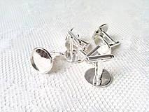 Galantéria - Manžetové gombíky s lôžkom 16mm - strieborné - 8861718_