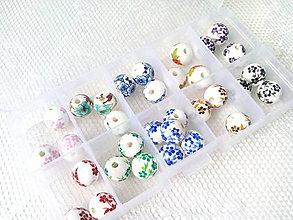 Korálky - Porcelánové korálky 12mm - mix farieb - 8861765_