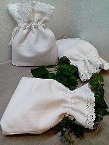 Úžitkový textil - Ľanové vrecúško - 8858351_
