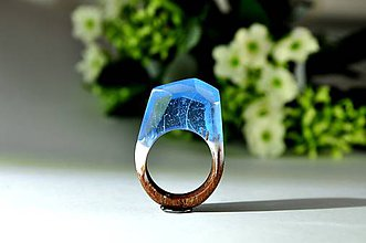 Prstene - Drevený prsten Arctic - 8859468_