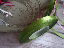 Galantéria - stuha olivovo zelená 6mm - 8858377_