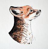 Kresby - Líštička - ručně kolorovaná reprodukce - 8856845_