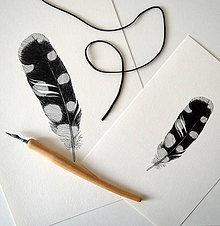 Kresby - Pierko černobiele - A4 - 8858490_