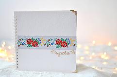 Papiernictvo - Svadobný fotoalbum - s farebnou krajkou - 8862105_
