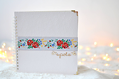 Svadobný fotoalbum - s farebnou krajkou