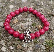 Náramky - Vianočný jadeitový náramok - sobík - 8858863_