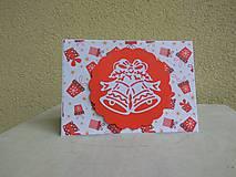 Papiernictvo - Vianočná pohľadnica - Zvončeky - 8861691_