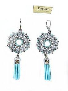 157a95f87 Náušnice - Luxusné náušnice ľadová modrá - 8859018_
