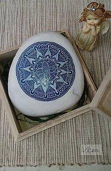 Dekorácie - Modrotlač - Na kameni maľované - 8861451_