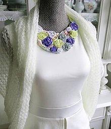 Sady šperkov - Žltá kvetinová sada - náhrdelník, náušnice - 8859776_