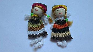 Iný materiál - Textilná bábika 8cm - hnedobéžová - 8860889_