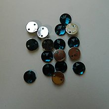 Iný materiál - Našívacie kamienky kruhové povrch do hrotu 8mm (Oceľovomodrá) - 8856566_