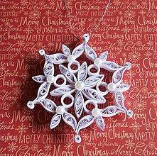 Dekorácie - Vianočná vločka č.2 - ozdoba na stromček - 8858755_