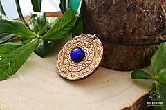 Náhrdelníky - Zen - náhrdelník intuície & kreativity (indigo) - 8857940_