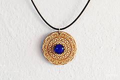 Náhrdelníky - Zen - náhrdelník intuície & kreativity (indigo) - 8857944_