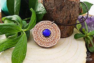 Náhrdelníky - Zen - náhrdelník intuície & kreativity (indigo) - 8857941_
