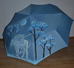 Iné doplnky - ručne maľovaný dáždnik - jednorožec - 8856752_