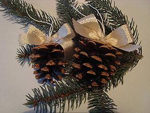 Dekorácie - Vianočná šiška lurexová,zlatá - 8859334_