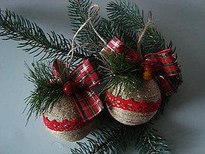 Dekorácie - Vianočná guľa z juty - 8859586_