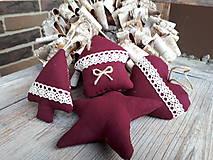 - Vianočné ozdôbky bordó 4 ks - 8861497_