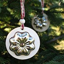 Dekorácie - Vidiecke vianočné ozdoby - 8864930_