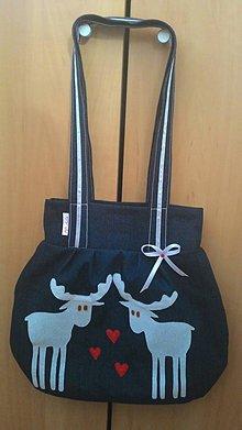 Veľké tašky - Zamilovany jelen modrá - 8864302_