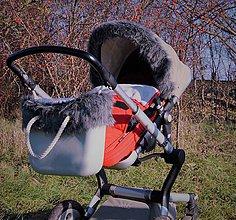 Detské súpravy - Kožušinka na striešku plus lem na Obag - 8865106_