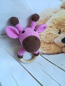 Hračky - hrkálka žirafka - 8866010_