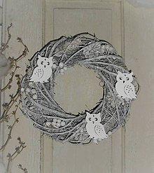 Dekorácie - Zimný veniec so sovičkami - 8862518_
