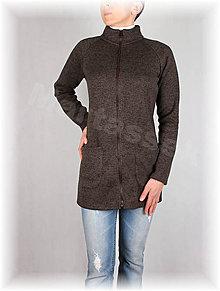 Mikiny - Kabátek na zip-svetrovina(více barev) - 8867298_