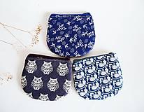- Peňaženky - v odtieňoch modrej (Peňaženka - modrotlač) - 8867257_
