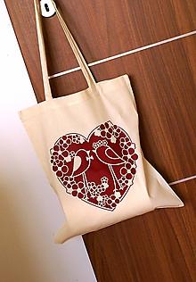 Nákupné tašky - Taška - vtáci v tŕní - 8864287_