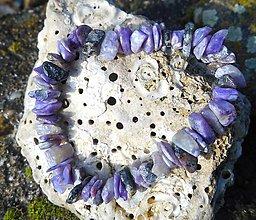 Náramky - mystic violet stone-čaroit, zľava:7,50e! - 8863424_