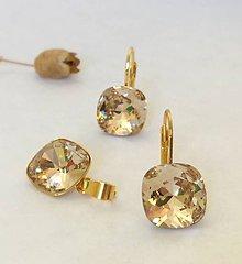 Sady šperkov - Swarovski zlatý set - 8864006_