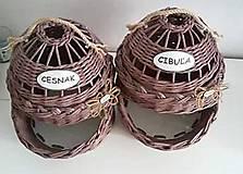 Košíky - cibuliak a cesnak - 8863552_