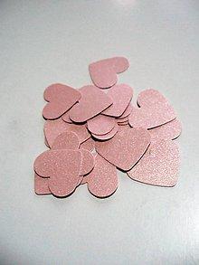 Papier - perleťové srdiečka (pudrovo- ružové) - 8864919_
