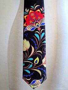 Doplnky - kravata Farebný ornament - 8865125_