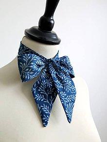Šatky - dámska modrotlačová kravata - 8865253_