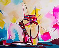 Grafika - Print A3 na papieri A2 (v ráme) z originál obrazu  Ballet schoes - 8865568_