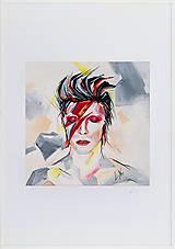 Grafika - Print A3 na papieri A2 z originál obrazu D. Bowie - 8865613_