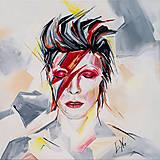 Grafika - Print A3 na papieri A2 (v ráme) z originál obrazu  D. Bowie - 8865619_