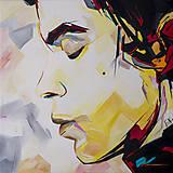 Grafika - Print A3 na papieri A2 (v ráme) z originál obrazu  Abstraktný portrét VI. - 8865622_
