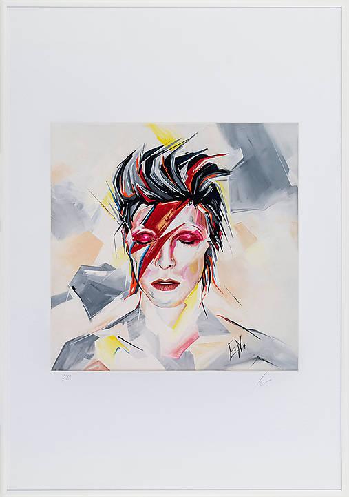 Print A3 na papieri A2 z originál obrazu Abstraktný portrét III.