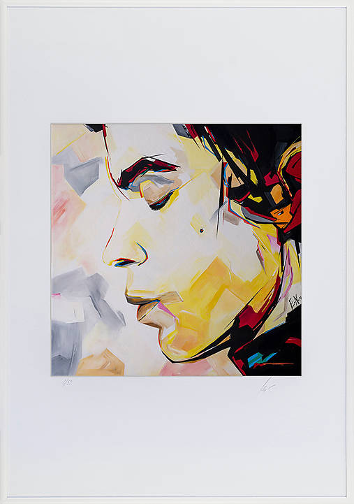 Print A3 na papieri A2 z originál obrazu Abstraktný portrét VI.